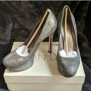 NEW Pewter metallic all-leather heels Final Price